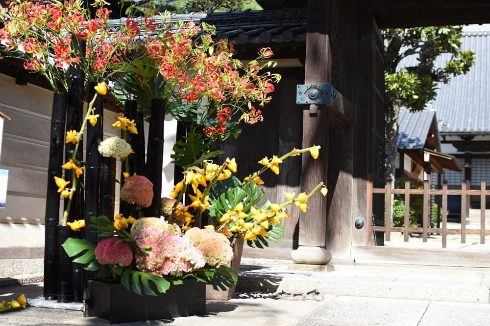 【倉敷屏風祭】街並みの生け花