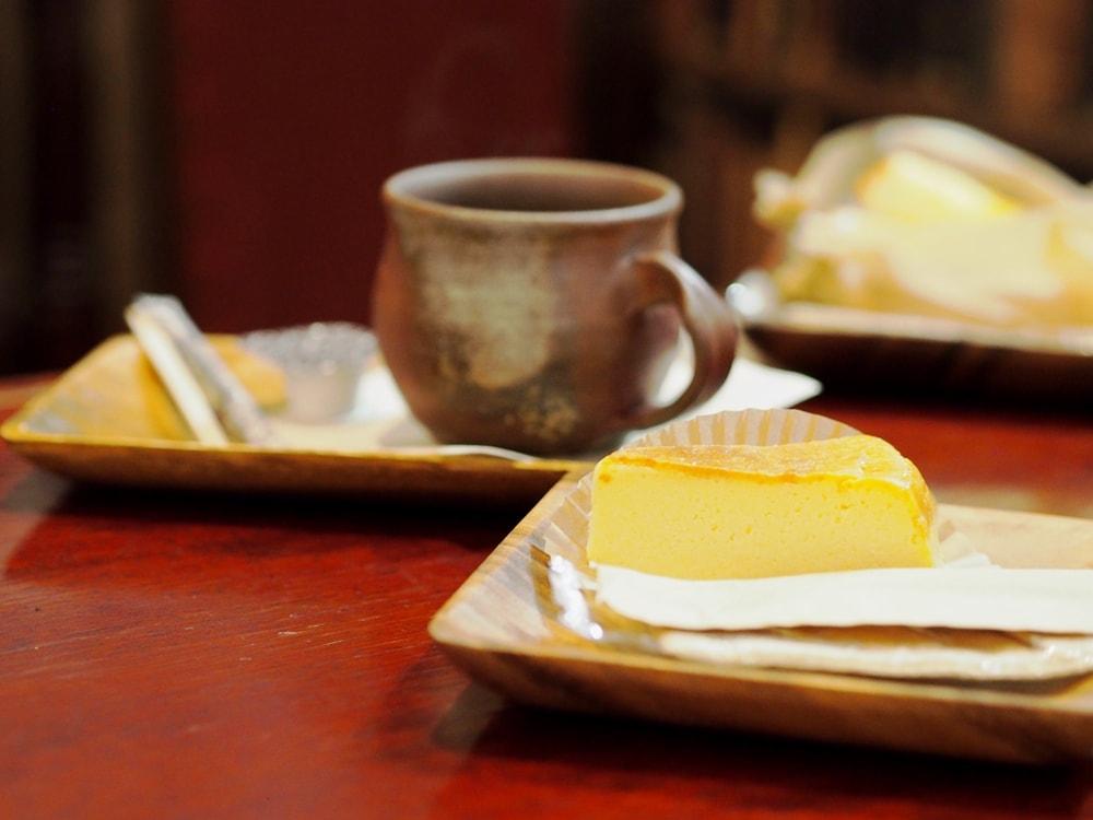 天領倉敷珈琲 チーズケーキ