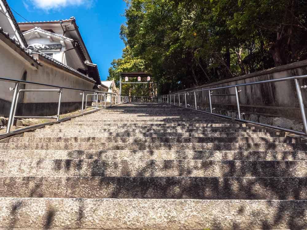 阿智神社 石段 米寿坂