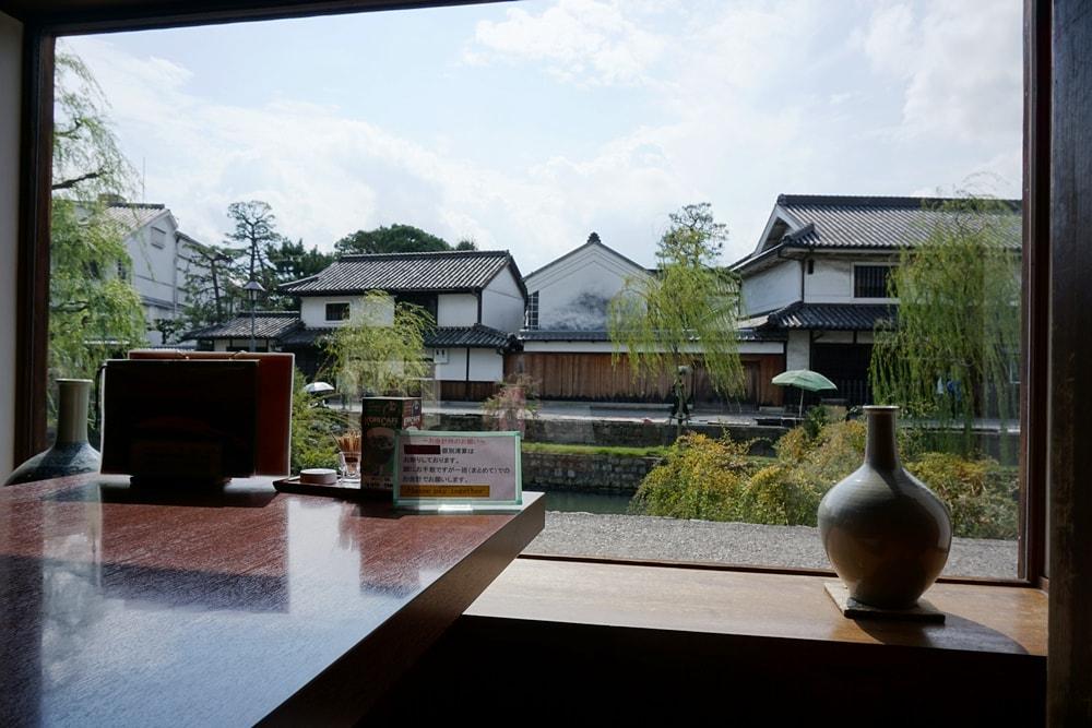 美観地区 お食事処カモ井 店内からの景色