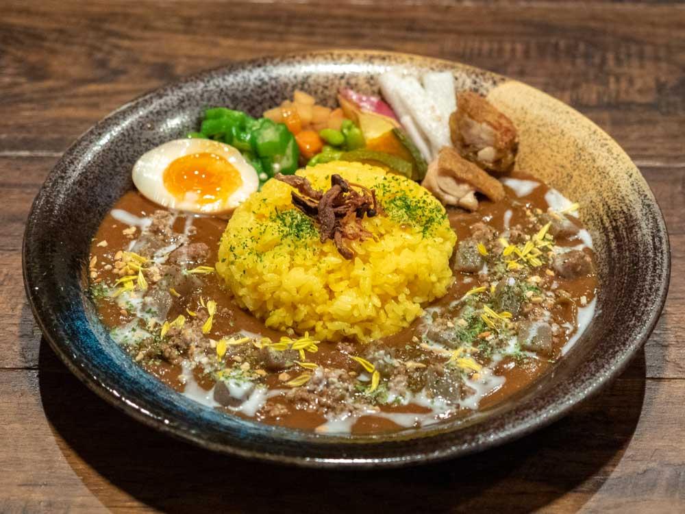 倉敷カレー (日替わりカレー 挽肉とコンニャク)