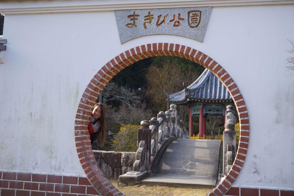 円窓と六角亭