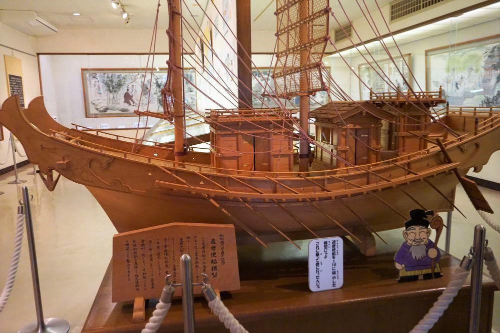 まきび記念館 遣唐使舟模型