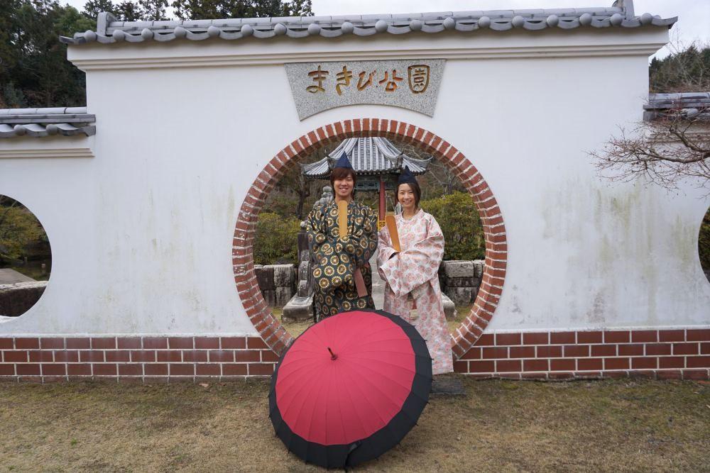 まきび記念館 円窓前