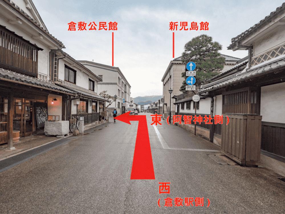 観龍寺へのアクセス(本通り西側から)