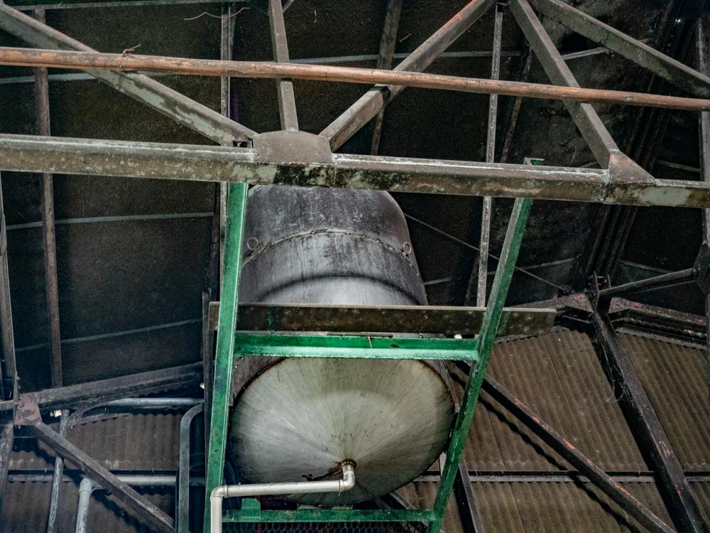とら醤油:醸造場 水タンク