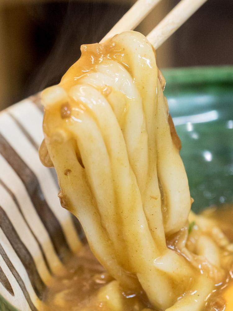 ふじ心:牛玉カレーうどんの麺