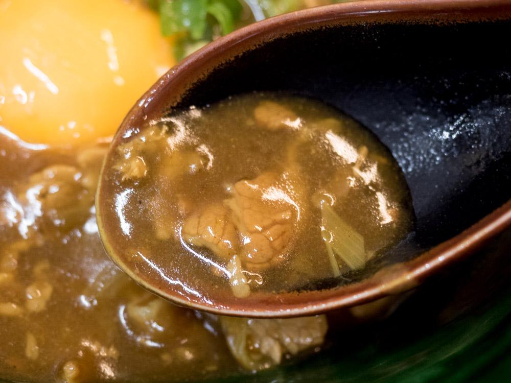 ふじ心:牛玉カレーうどんの汁