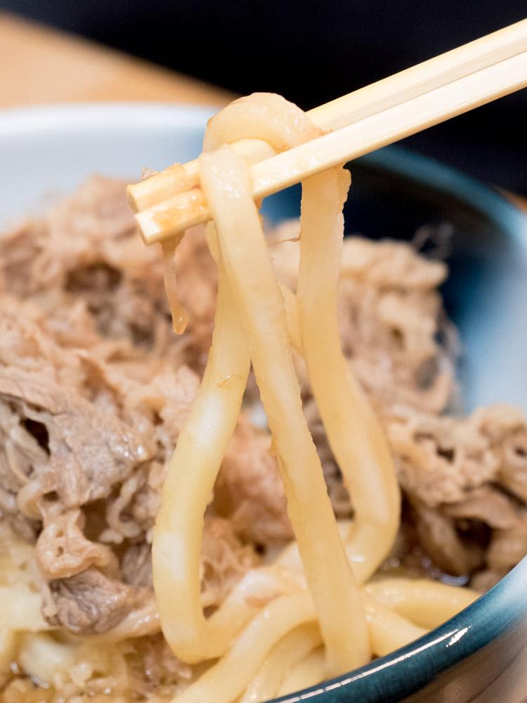 ふじ心:肉おろしぶっかけ(温)の麺