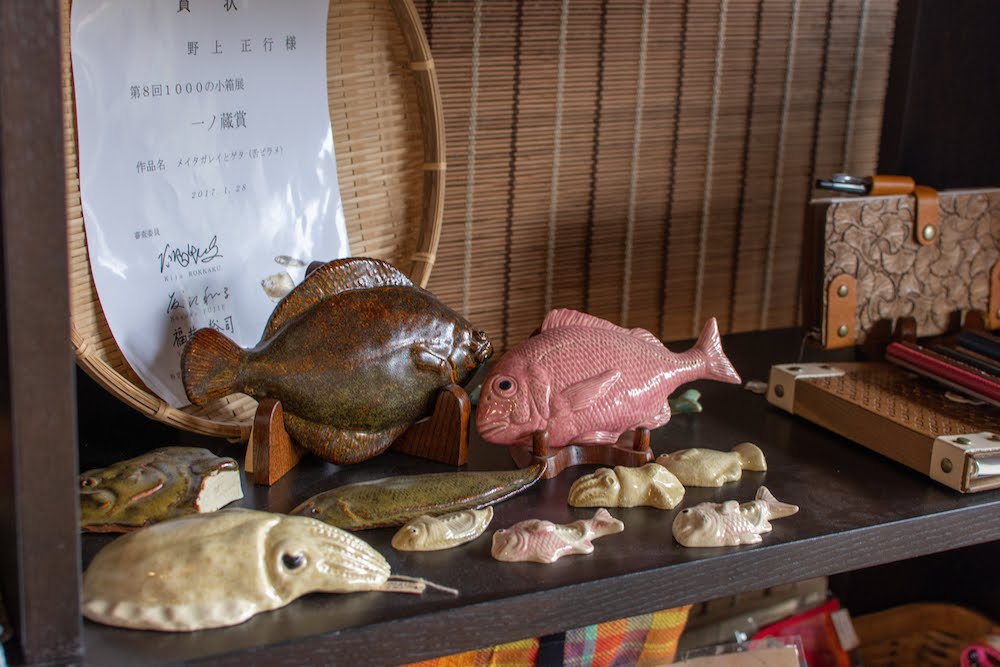 岡山の木彫り作家、陶芸家の手作り雑貨