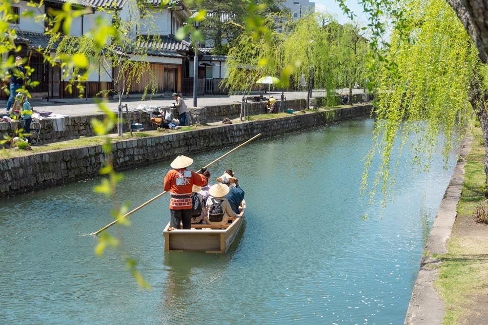 倉敷川:川舟
