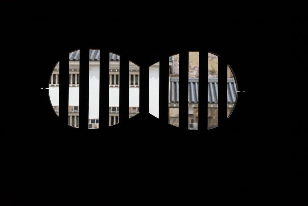 大原美術館 工芸・東洋館 棟方志功室の窓