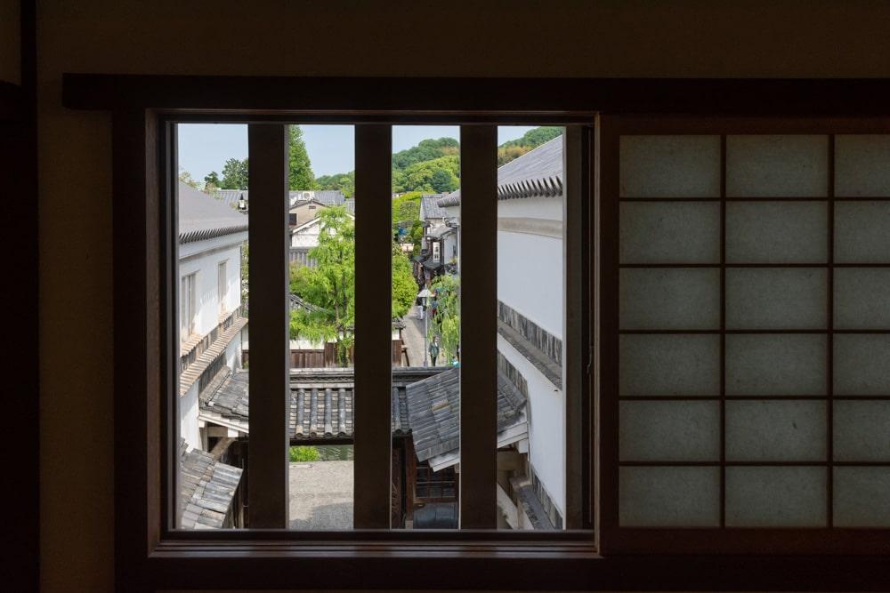 倉敷民藝館 窓からの景色