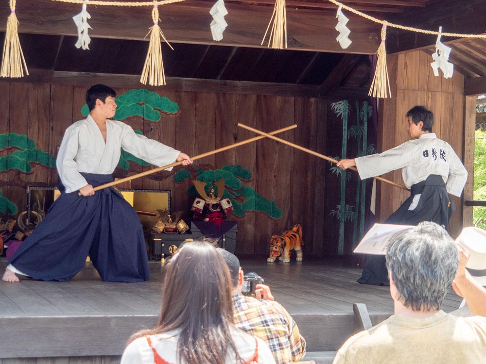 藤見の会(令和元年)での倉敷古武道祭のようす