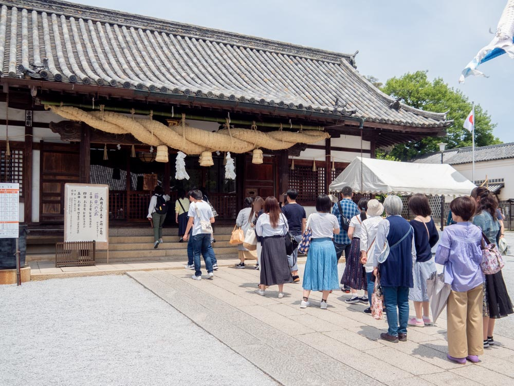 藤見の会(令和元年) 阿智神社拝殿のようす