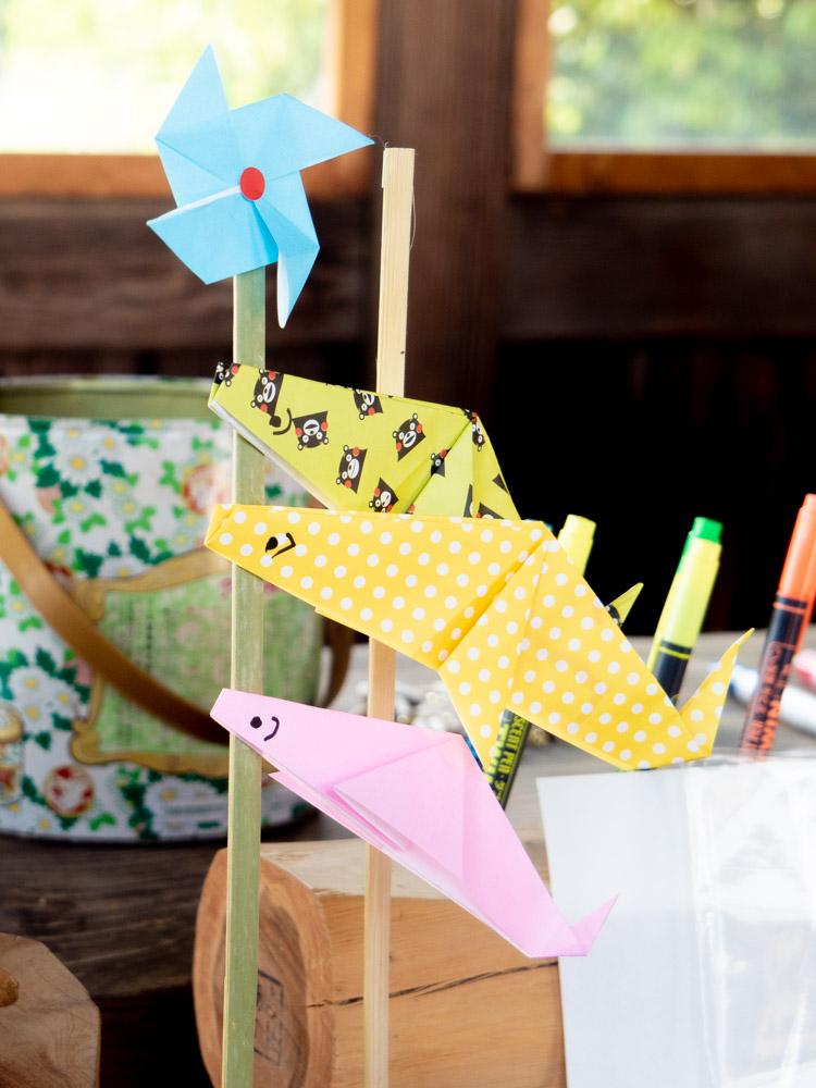 藤見の会(令和元年) 図工教室の完成品(鯉のぼり)