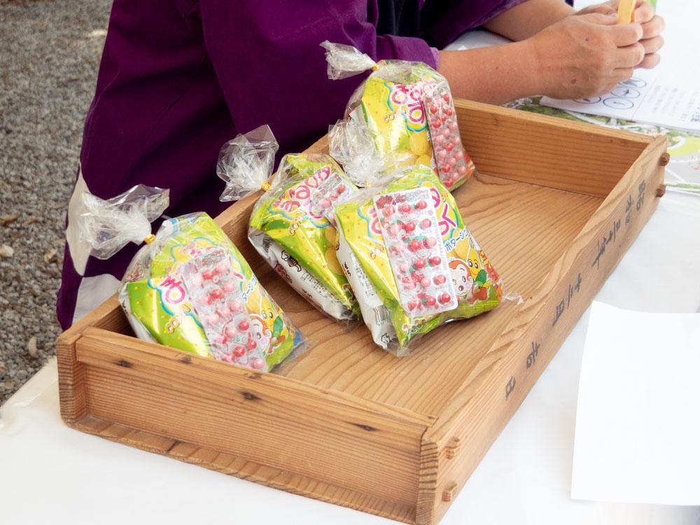 藤見の会(令和元年) 図工教室の参加賞 駄菓子の詰め合わせ