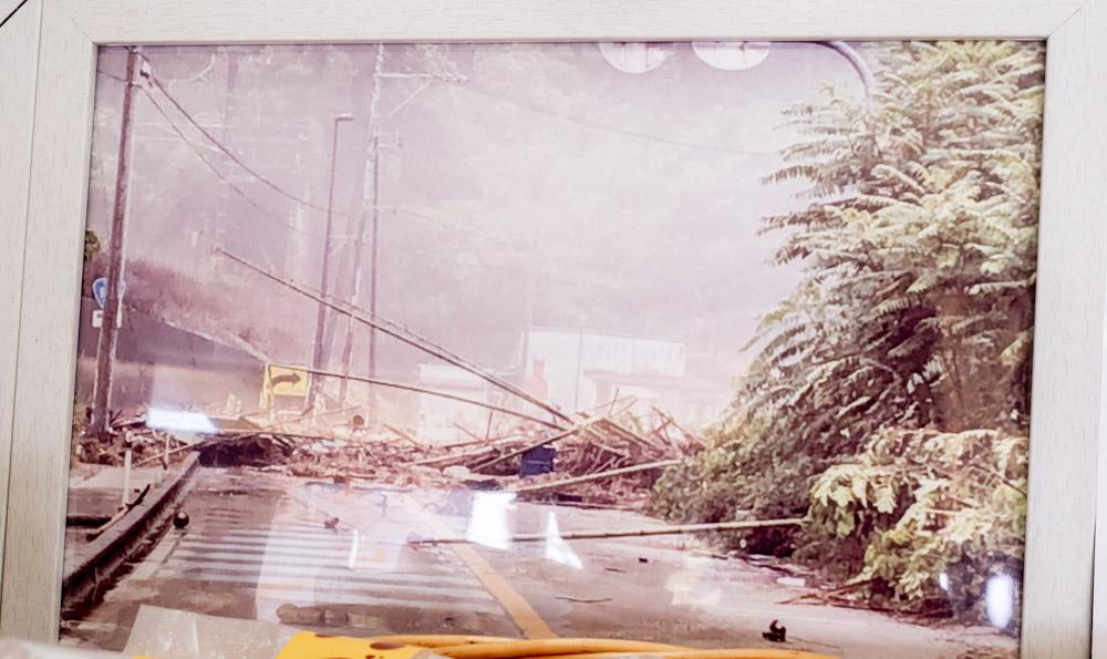 鬼びっくり饅頭本舗 平成30年7月豪雨のときのようす
