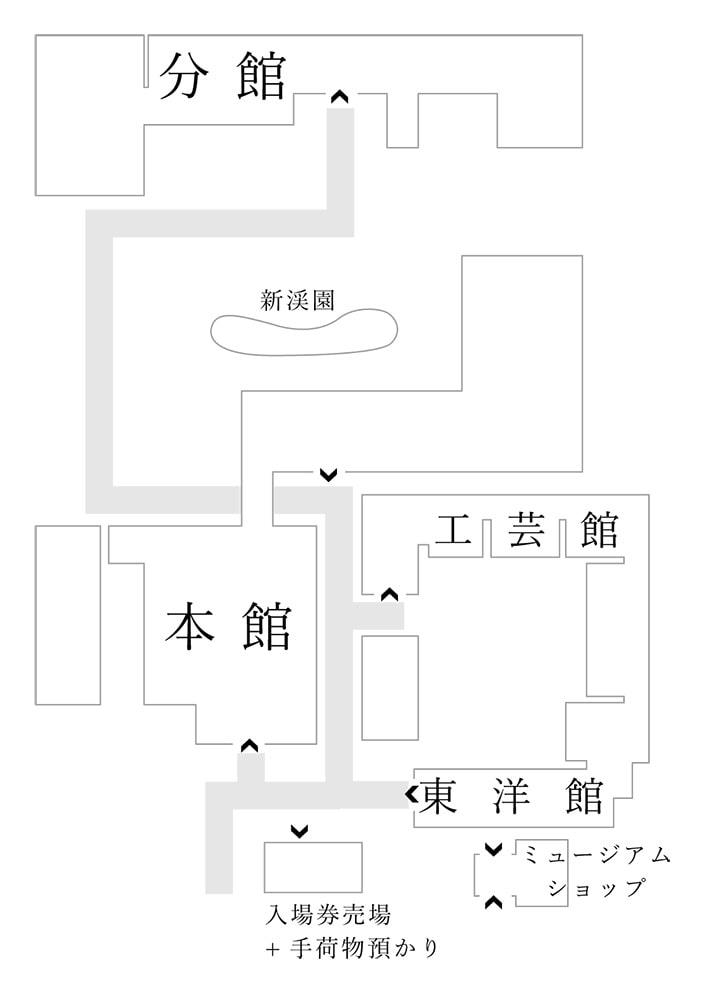 大原美術館全体概略図