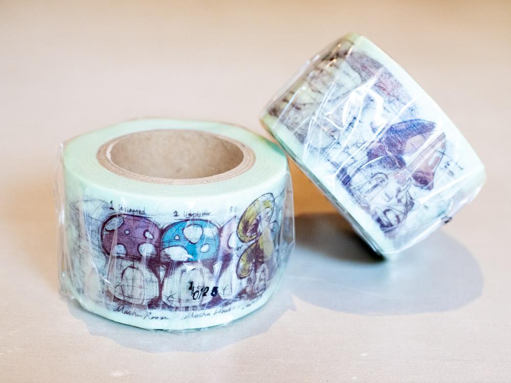マシュルーム オリジナル商品 マスキングテープ