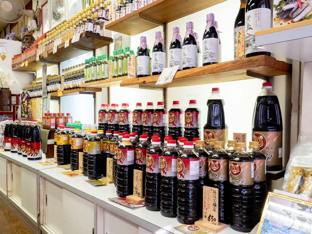 倉敷名産館のとら醤油製品