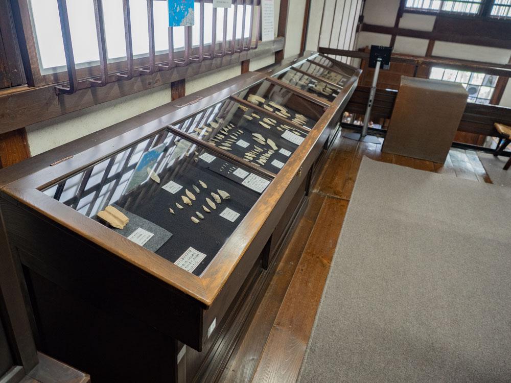 倉敷考古館:開館時からある展示ケース