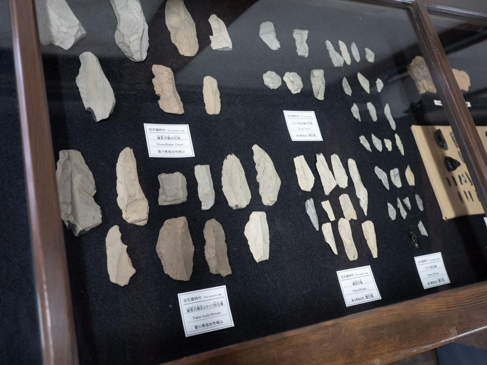 倉敷考古館:サヌカイトの石器