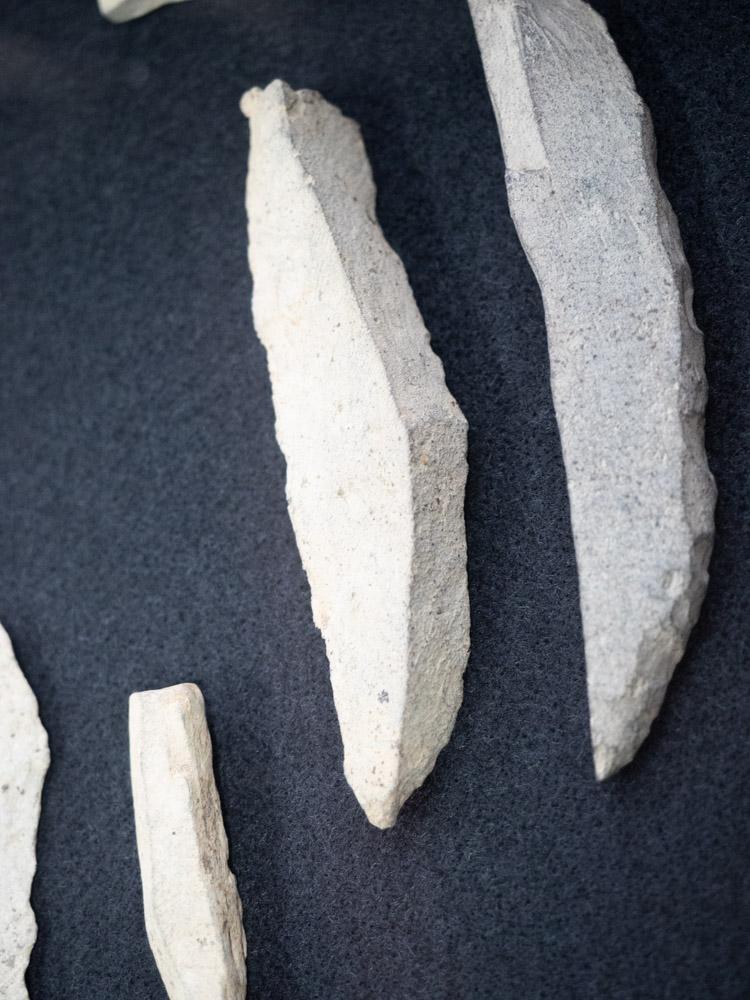 倉敷考古館:鷲羽山遺跡から出土した石器