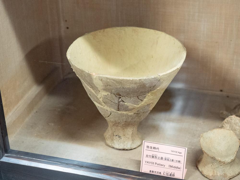 倉敷考古館:児島仁伍遺跡から出土した弥生土器