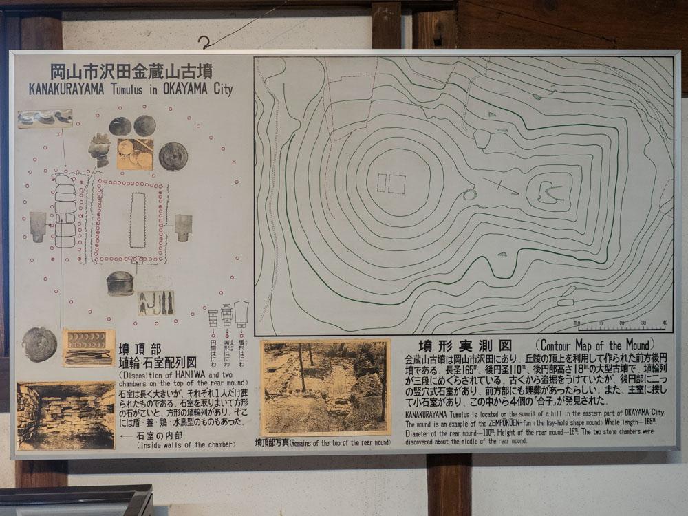 倉敷考古館:金蔵山古墳の説明