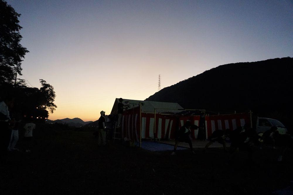 弾琴祭 夕暮れの風景