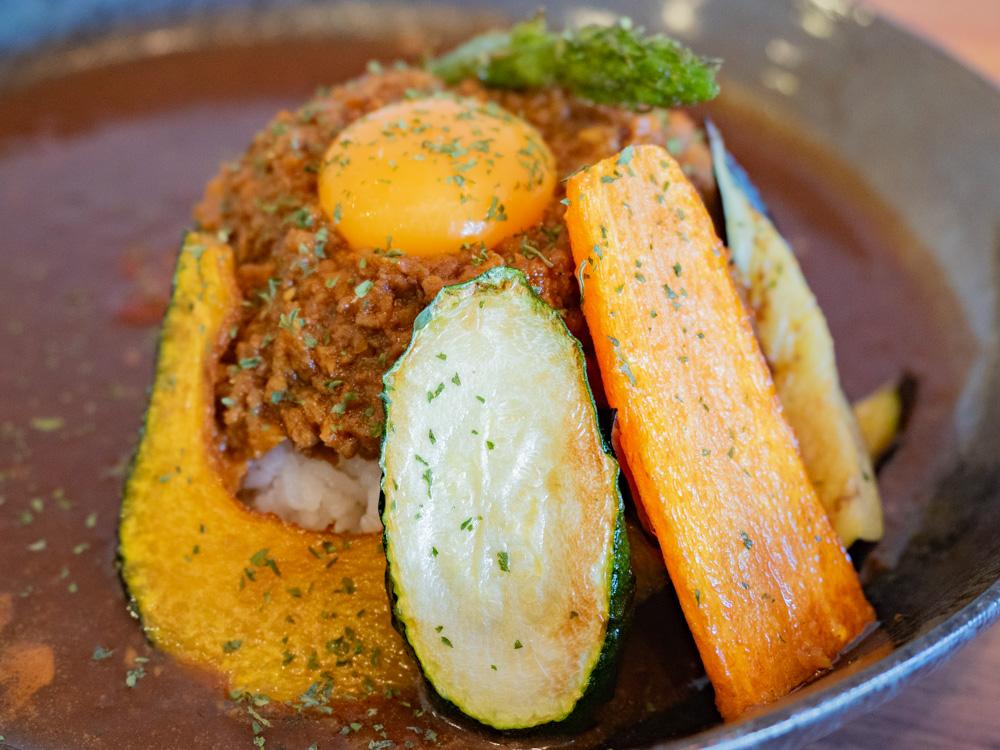 カフェ くらしき芸文館のキーマカレーの野菜