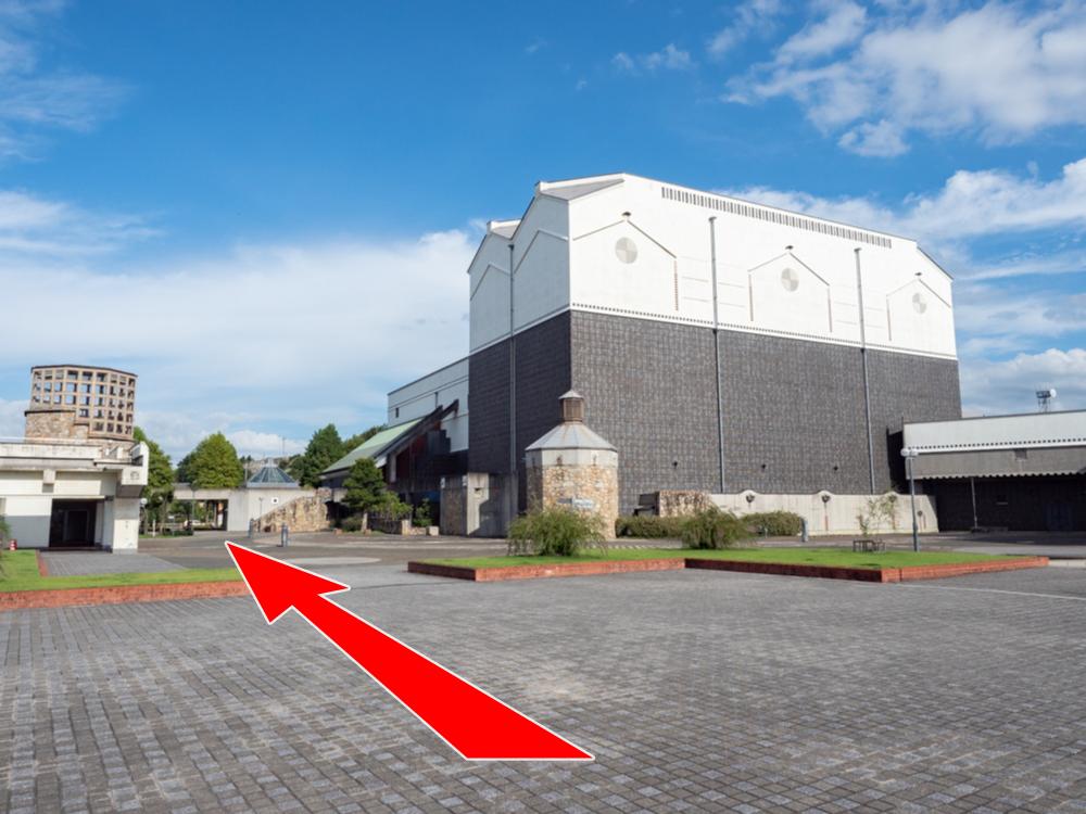 カフェ くらしき芸文館のある倉敷芸文館(西側)