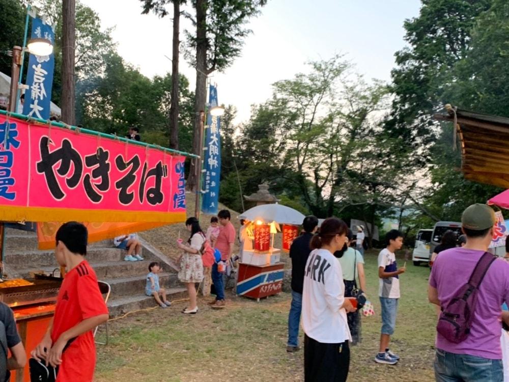 【吉備様夏祭り】境内の屋台