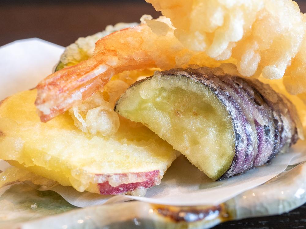 せりべの「せりべ御膳」の天ぷら