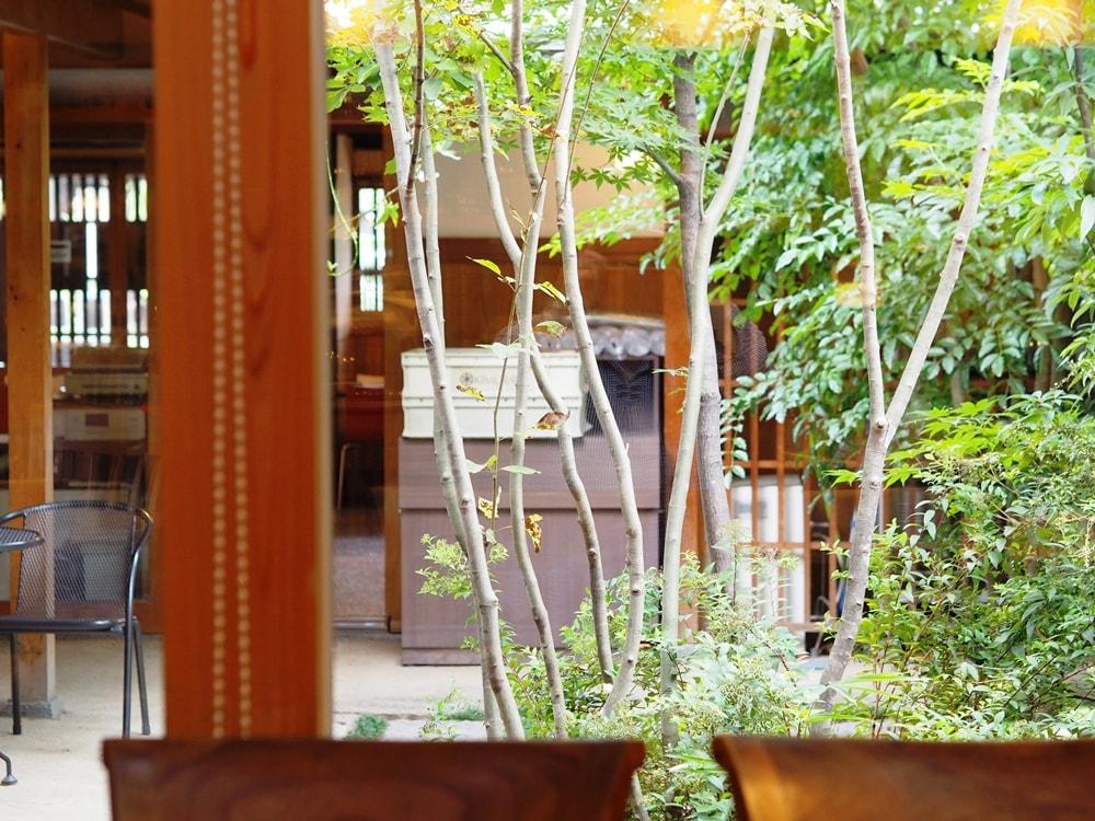 コバコーヒー中庭
