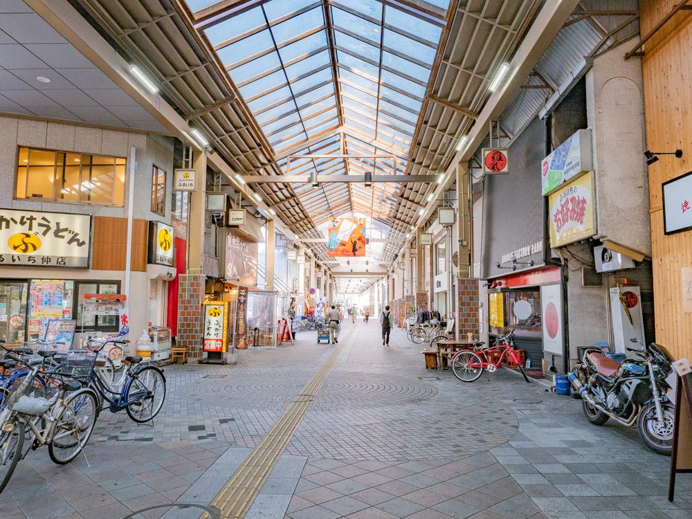 くし亭への行き方:ビオス倉敷(倉敷センター街) ふるいち仲店前