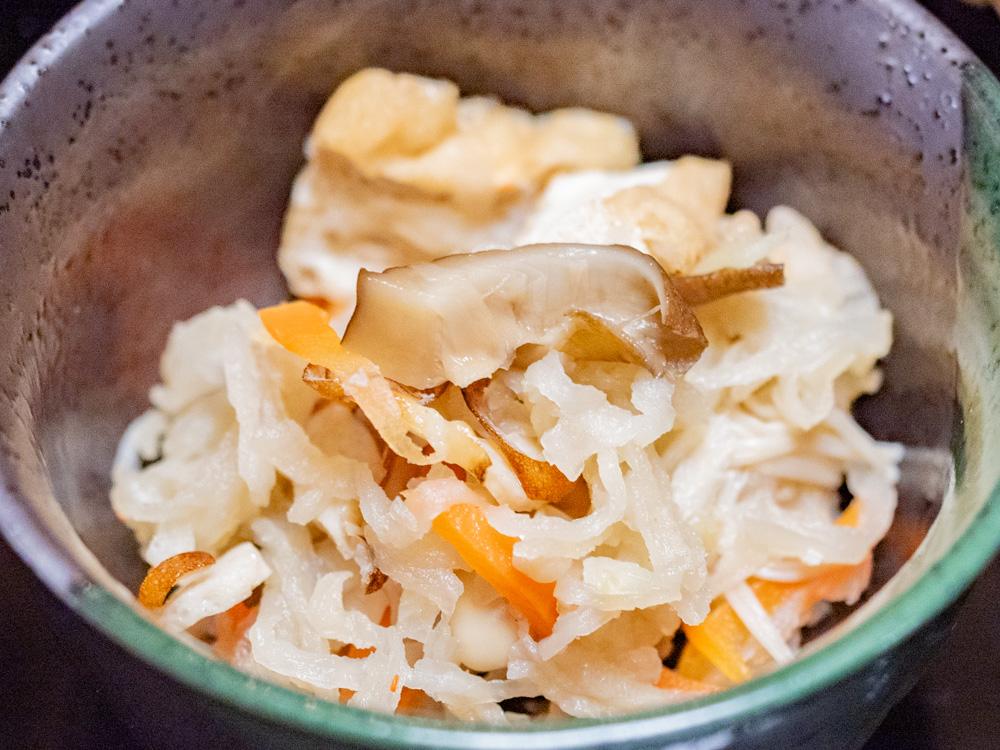 たご作:ランチ(和)の小鉢(切り干しダイコンの煮物)
