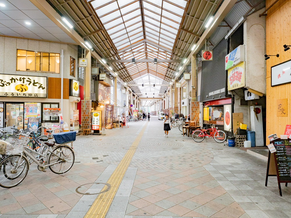 たご作への行き方:ビオス倉敷(倉敷センター街) ふるいち前