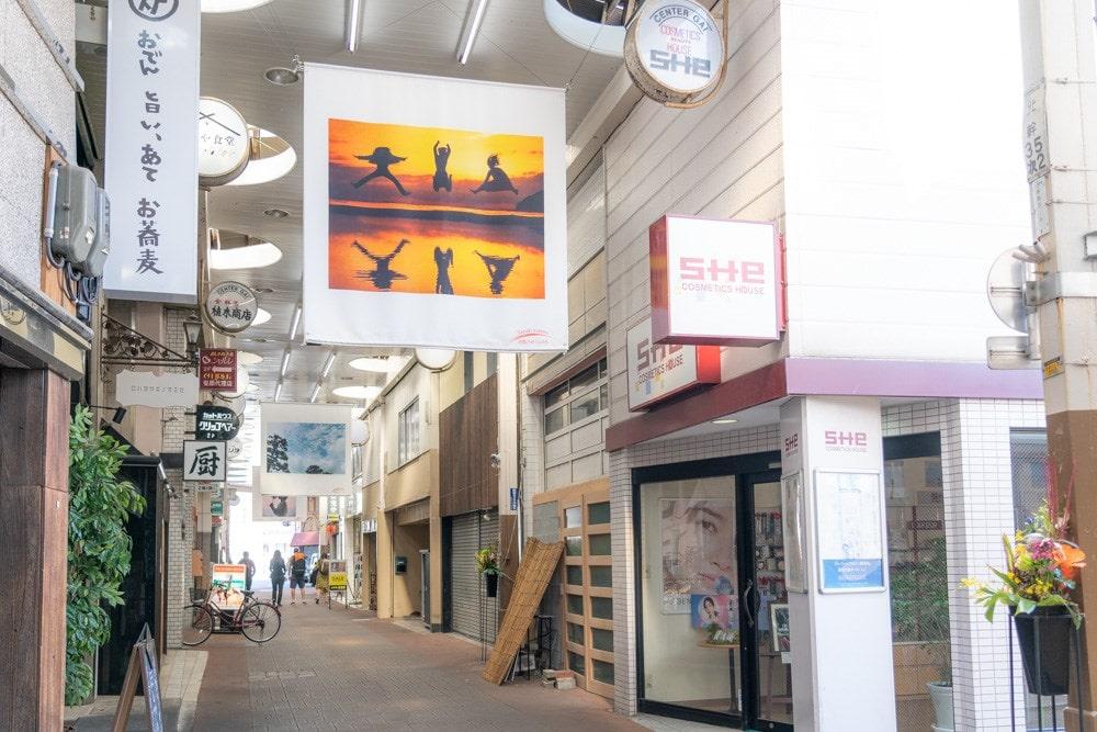 倉敷フォトミュラル 商店街展示