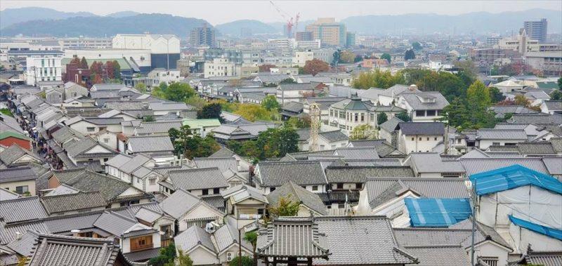 高台から見る美観地区