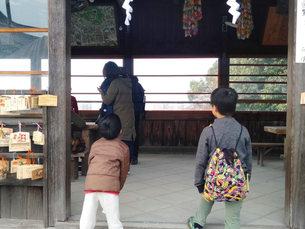 【阿智神社初詣】絵馬書きどころ