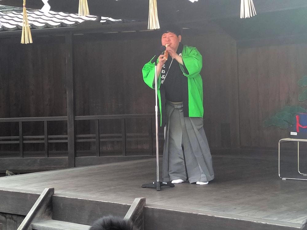 【阿智神社初詣】ちくわ笛で有名な住宅正人(すみたくまさと)さん