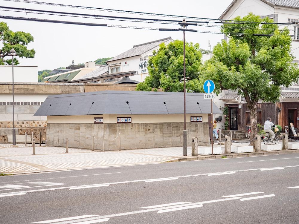 倉敷美観地区周辺のトイレ:大原美術館別館西側歩道