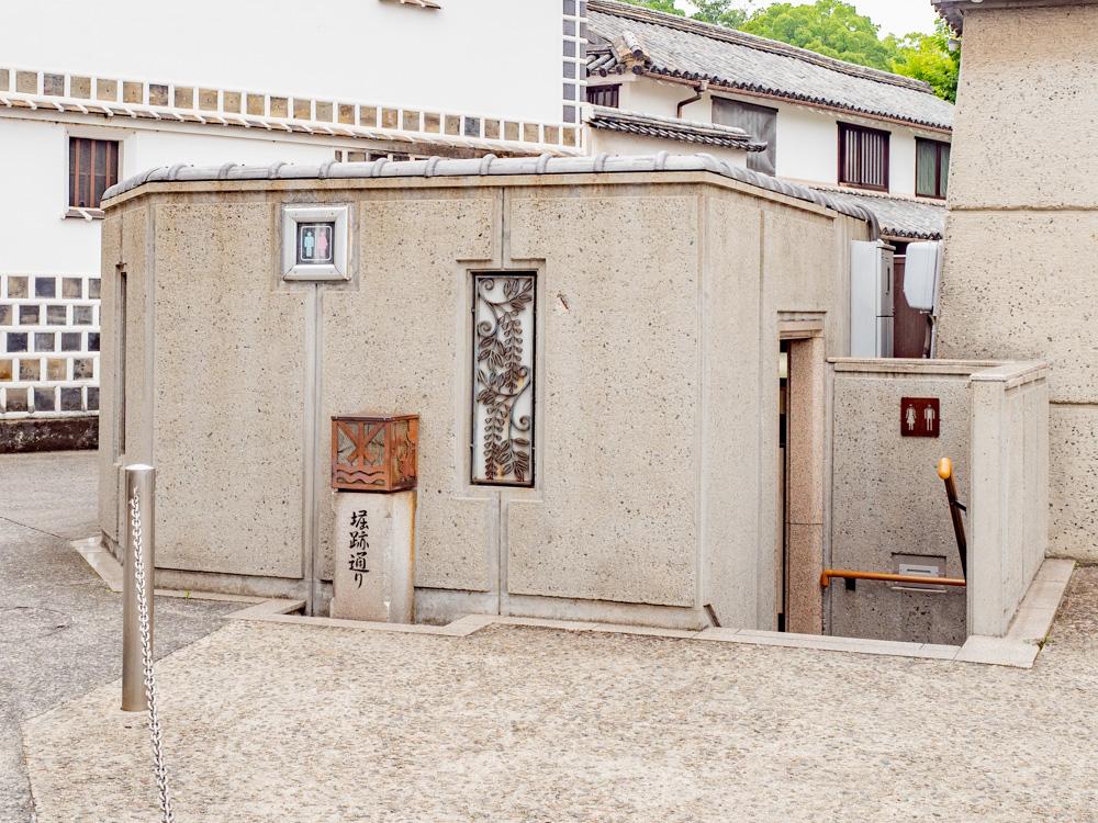 倉敷美観地区周辺のトイレ:倉敷考古館東 倉敷東消防団消防機庫横