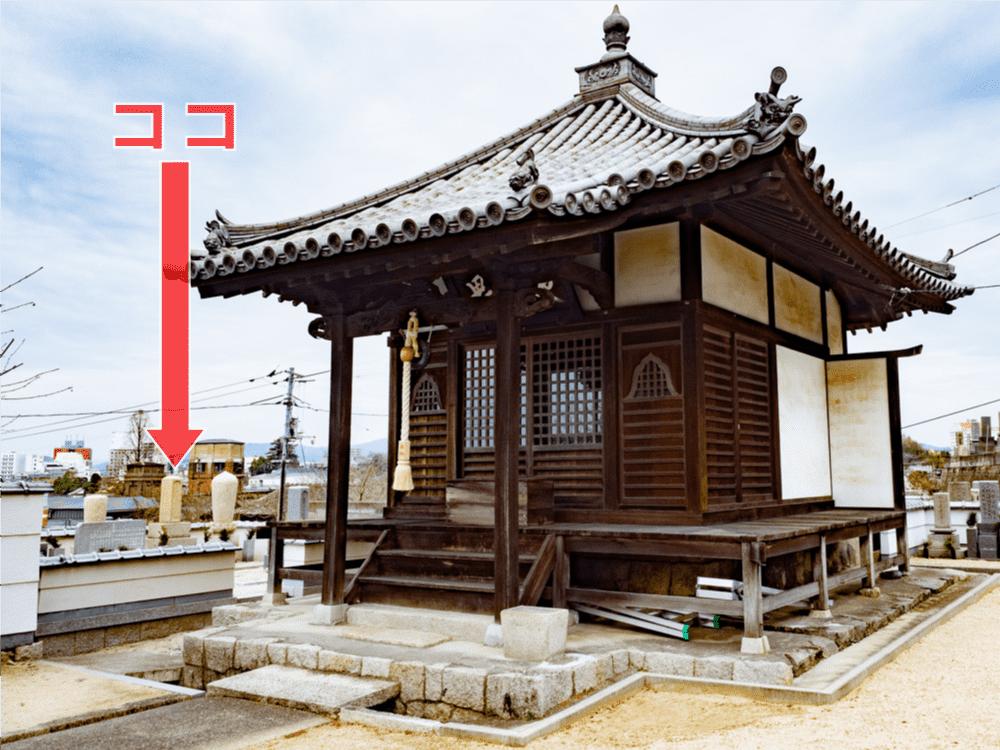 長連寺:観音堂横の住職墓地