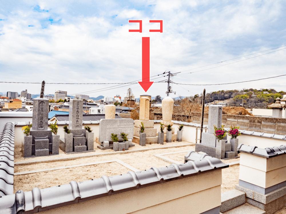 長連寺:観音堂横の住職墓地と大忍国仙墓