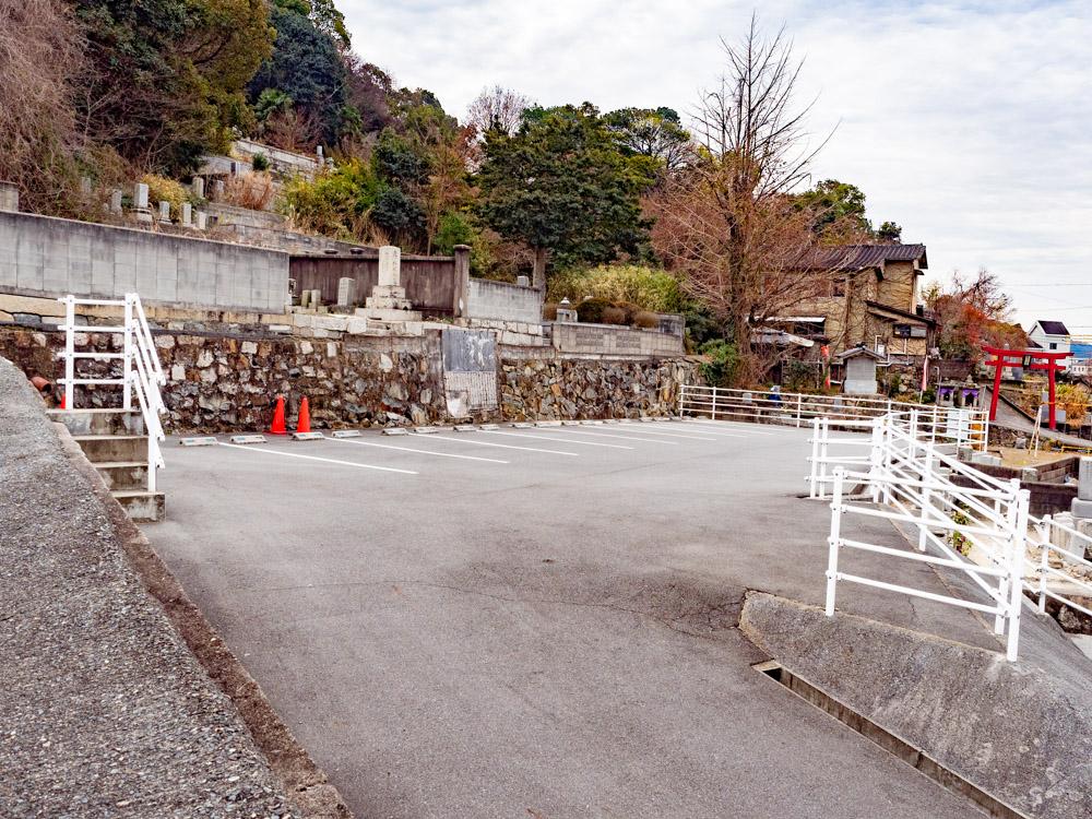 長連寺の駐車場
