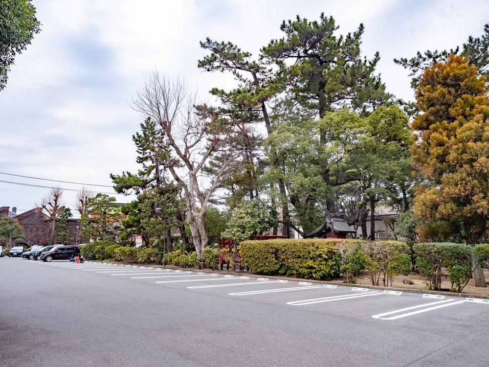 城山稲荷神社の鎮座地