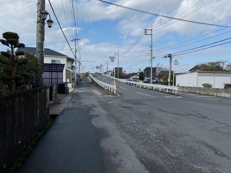 清音駅からの順路 金田一